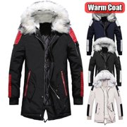 2019 New Winter Jacket Men Thicken Warm Parkas Casual Long Outwear Hooded Collar Jackets and Coats Men veste homme