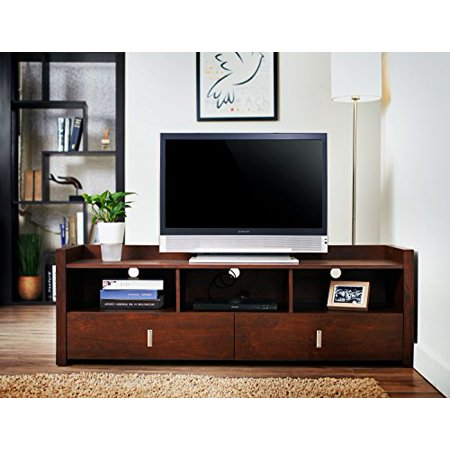 Furniture of America Martina TV Stand, 60-Inch, Vintage Walnut