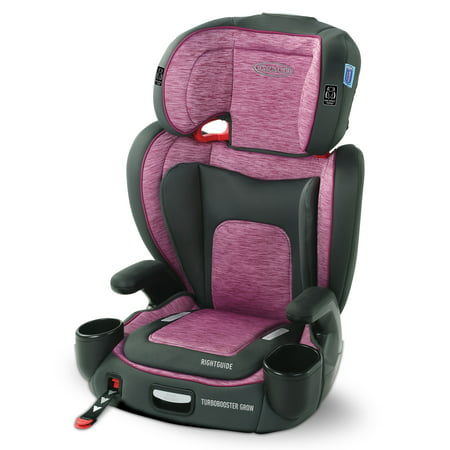 Graco TurboBooster Grow High Back Booster Car Seat, Joslyn Pink