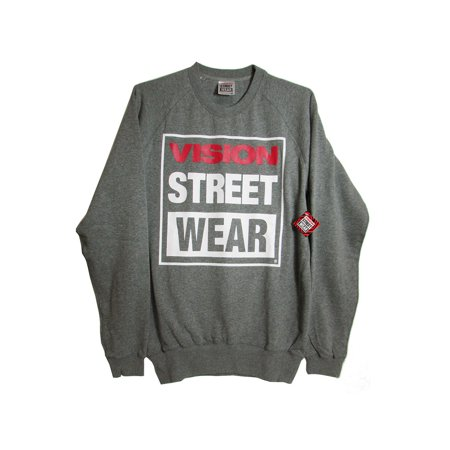 Logo Embroidered Crew Sweatshirt (Mens Logo Crew Neck Pullover Sweatshirt)