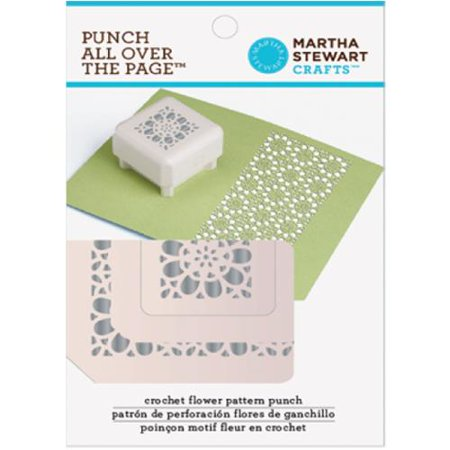 Martha Stewart Punch All Over The Page Pattern Punch-Crochet Flower ...