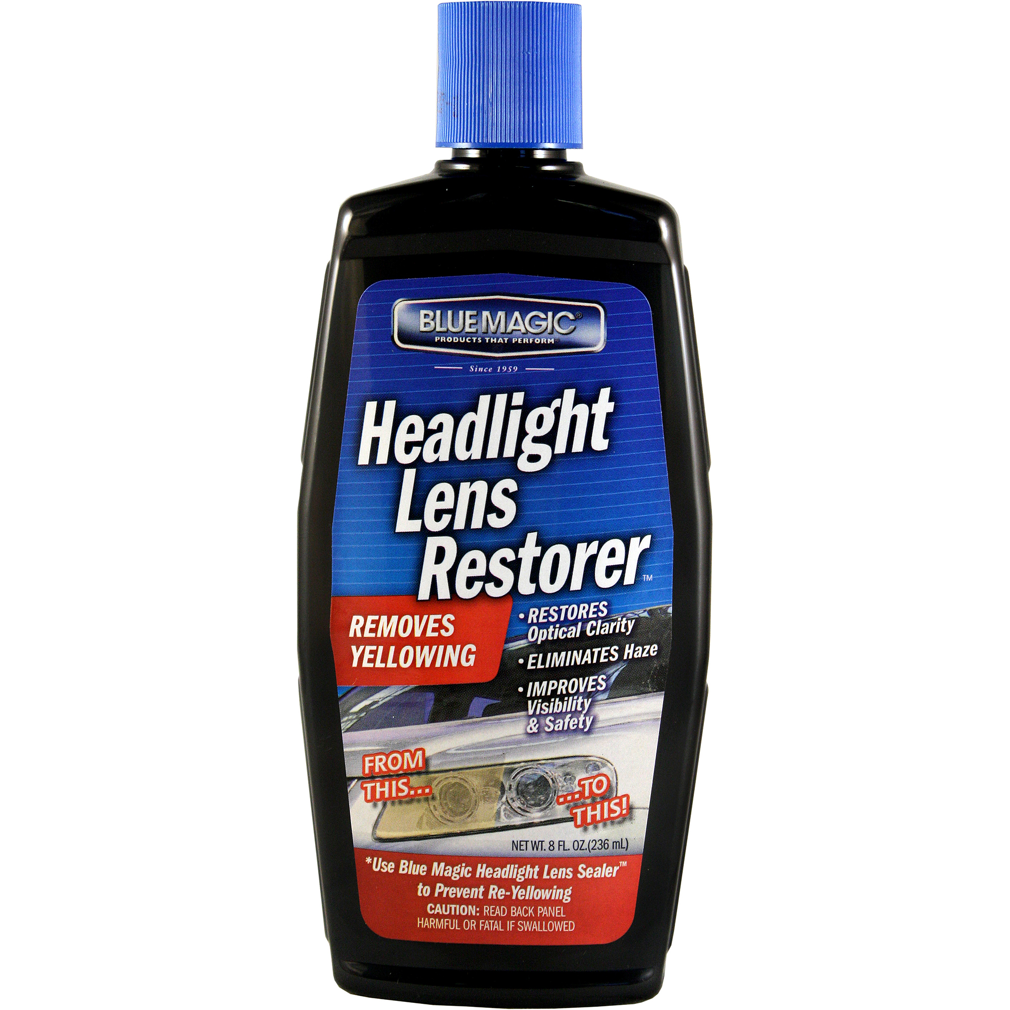Blue Magic 725 Headlight Lens Restorer - 8 fl. oz.