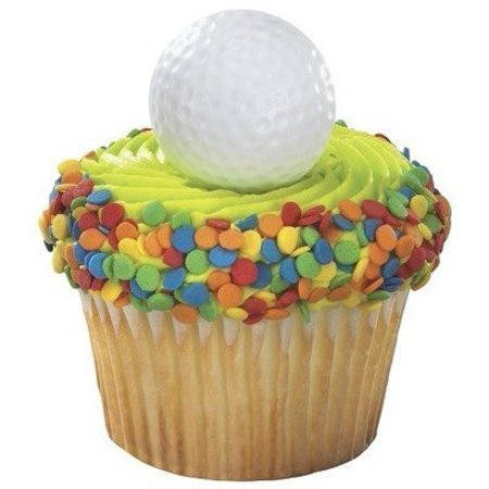 48 ct 3D Golf Ball Cupcake Topper Rings*