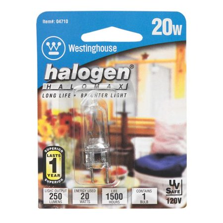 Westinghouse Lighting 20W GU7.9 Dimmable Halogen Edison Capsule Light (Capsule Light Bulb)