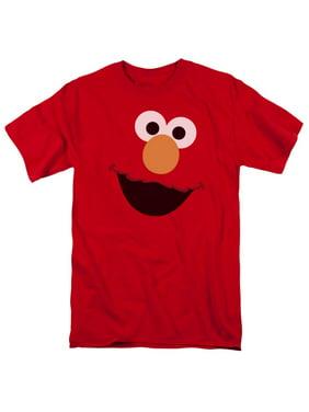 Product Image Sesame Street Classic Children s TV Show Elmo Face Outline  Adult T-Shirt Tee 21105bdb9