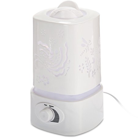 1.5L Carved Ionizer Lamp Aromatherapy Ultrasonic Oil Diffuser Humidifier Fogger Purifier Aroma Diffuser LED Night Light - image 2 of 12