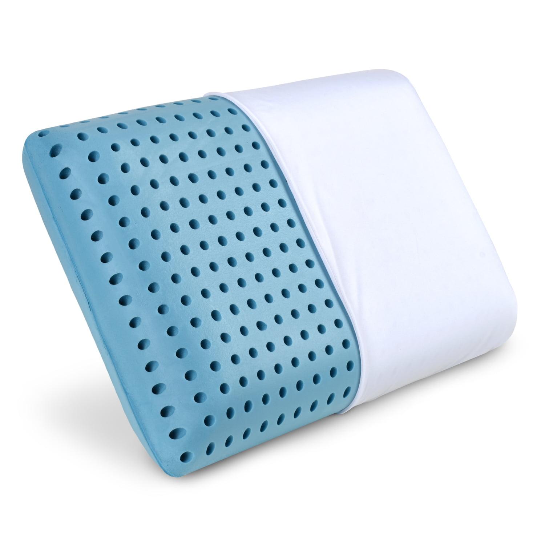 Lunablue Memory Foam Pillow Ventilated Hole Punch Memory