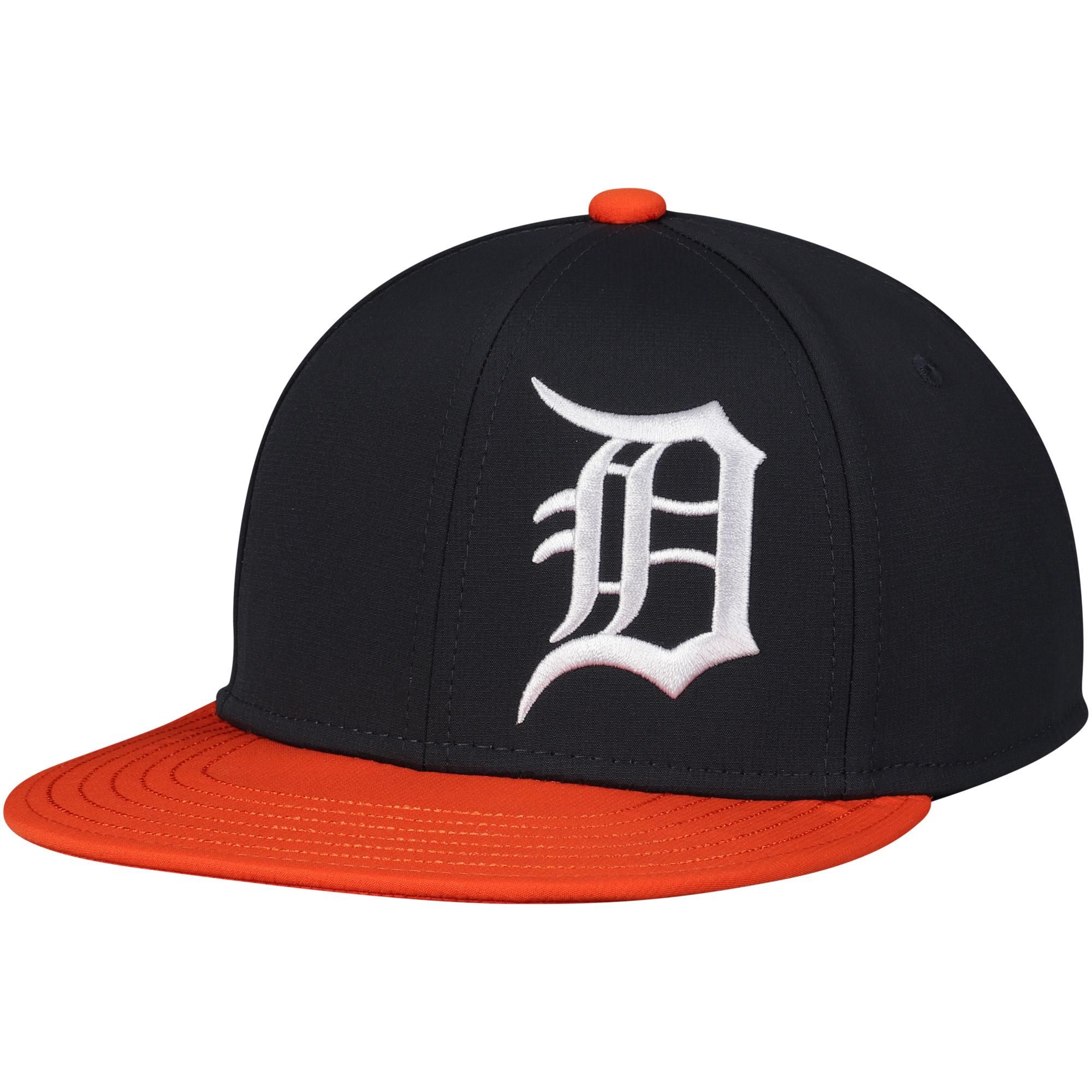 Detroit Tigers Under Armour Youth Big Logo Snapback Adjustable Hat - Black - OSFA