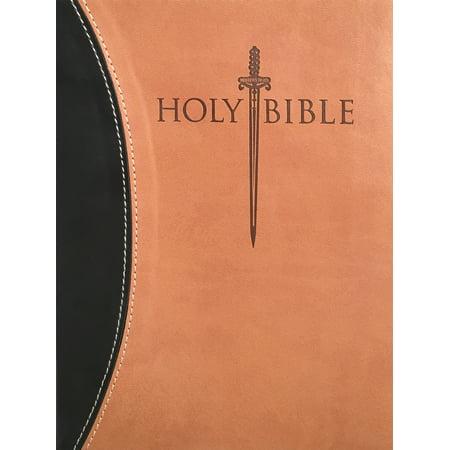 KJVER Sword Study Bible Personal Size Large Print Black Tan Ultrasoft : King James Version Easy