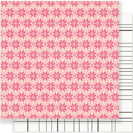 American Crafts Crate Paper Snow And Cocoa Collection 12 X 12 Double Sided Paper Fallen Snow