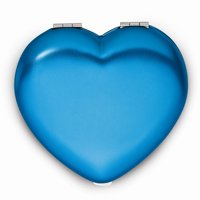 Metal Heart Compact Mirror - Engravable Personalized Gift Item