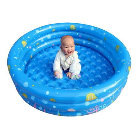 Inflatable Kiddie Pool, Ball Pool, Family Kids Water Play Fun In Summer 40*130cm 8' American Blue Green Pool