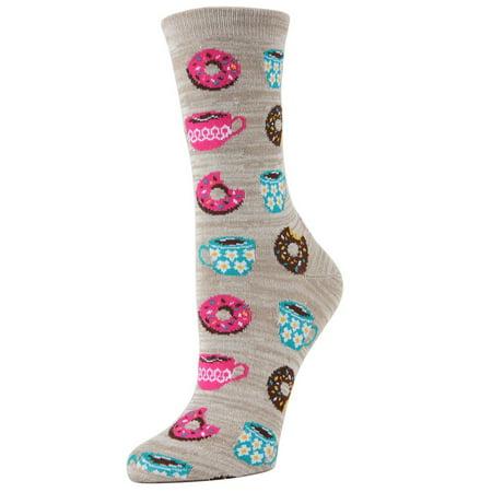 11142bc52180 MeMoi - memoi balanced breakfast crew - fun coffee novelty socks for women  by memoi one size 9-11 / mf7-919 black - Walmart.com