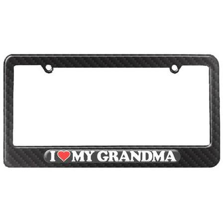 I Love Heart My Grandma Grandmother License Plate Frame Walmartcom