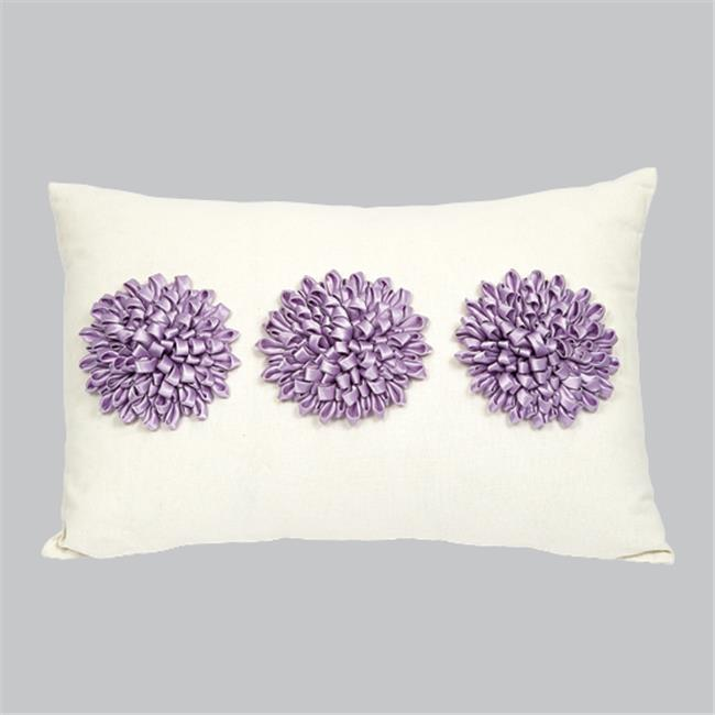 Jubilee Collection P202 Pillow - 3 Dahlias - Lavender