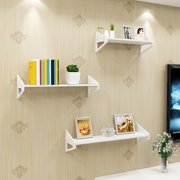 Sonew 1 Set of 3 Floating Wall Shelves Bookshelf Display Wall Shelf Storage Rack White, Floating Wall Shelves, Wall Shelves
