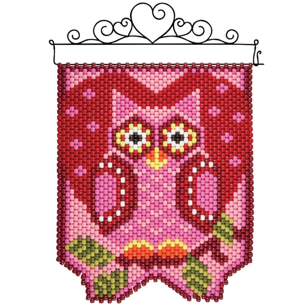 Herrschners®  Owl Be Yours Beaded Banner Kit