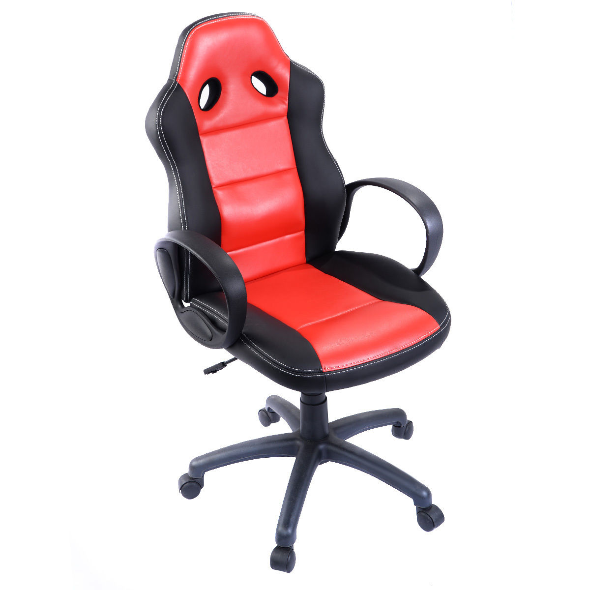 Exceptional Costway High Back Race Car Style Bucket Seat Office Desk Chair Gaming Chair  (Red)