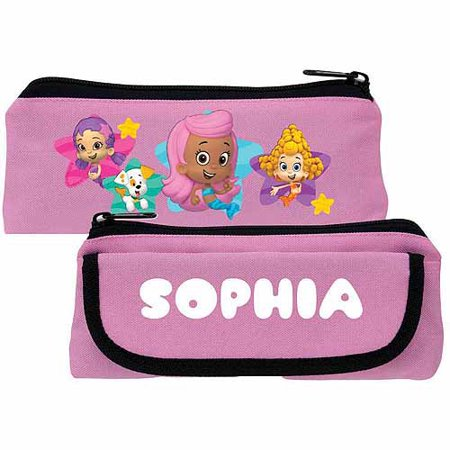 Personalized Bubble Guppies Guppy Girls Pink Pencil Case (Bubble Guppies Party Invitations)