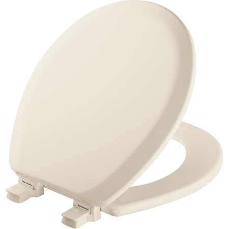 MAYFAIR Round Enameled Wood Toilet Seat in Biscuit with STA-TITE® Seat Fastening System™ and Easy•Clean & Change® Hinge