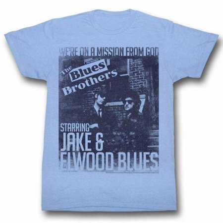 Blues Brothers Movies More Missions Adult Short Sleeve T - Blues Clues Costume