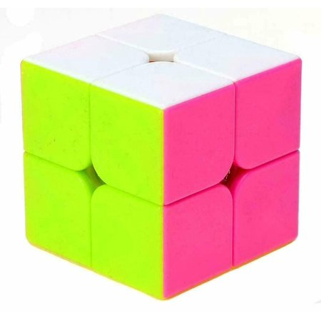 2x2 Speed Cube Stickerless Puzzle Magic Cube for