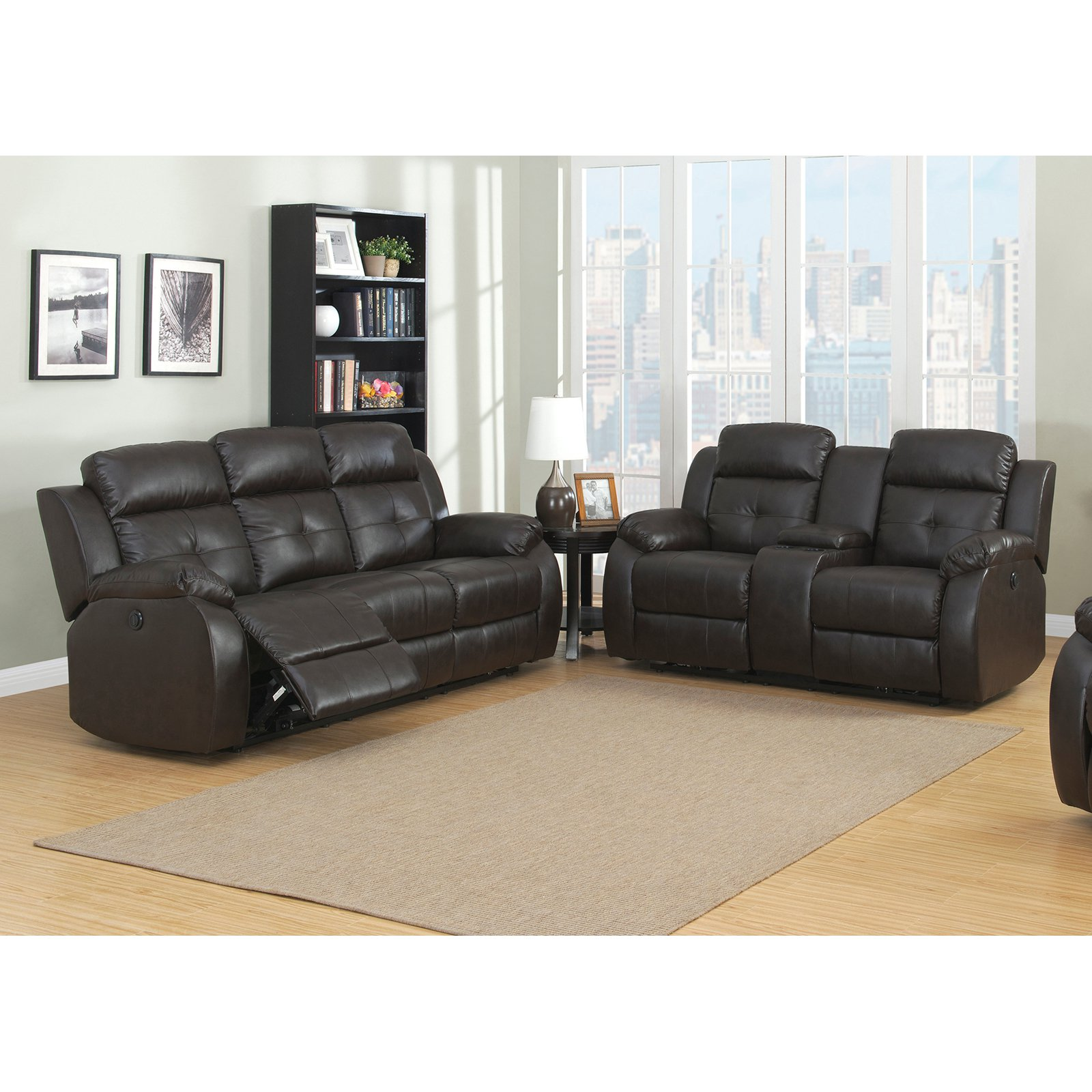 Christies Home Living Troy Collection 2 Piece Power Reclining Living Room Sofa Set