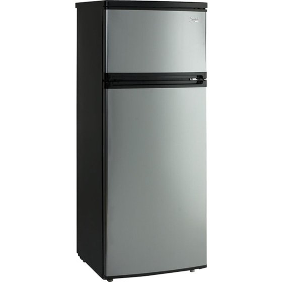Avanti 7.4 Cu Ft Apartment Refrigerator, Black/Platinum - Walmart.com