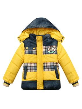 Richie House Little Boys Red Detachable Hood Padding Jacket 3/4