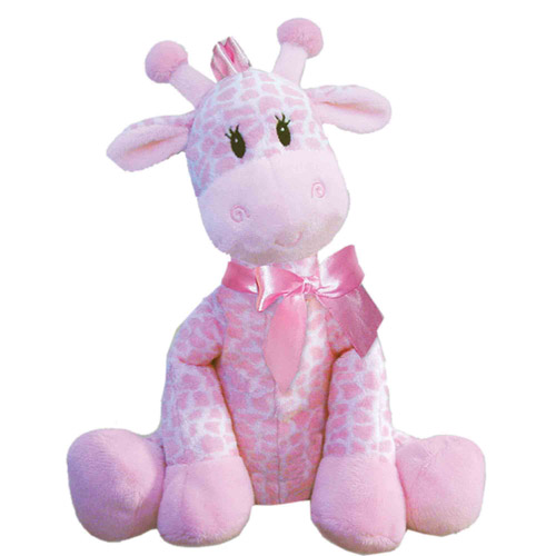 "First & Main Plush Stuffed Pink Giraffe, 8-1/2"" Sitting Position"