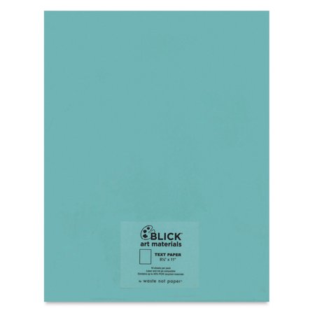 """Blick Stationery - Text Paper, Pool, 8-1/2"""" x 11"""", Pkg of 10 Sheets"""