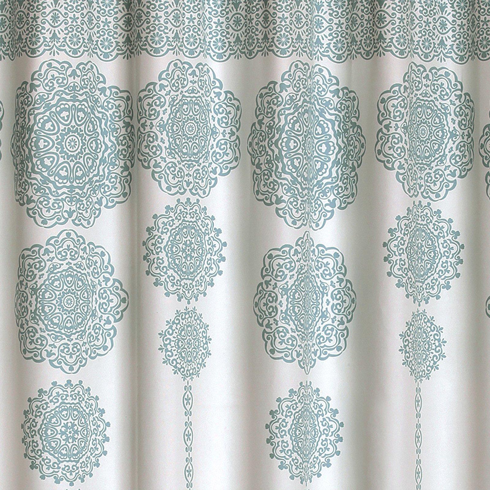 Stripe Medallion Shower Curtain, 72\