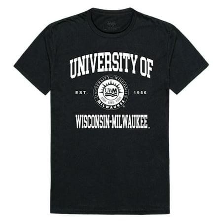 University of Wisconsin Milwaukee Panthers Seal Tee T-Shirt Black Medium](Halloween University Of Wisconsin)