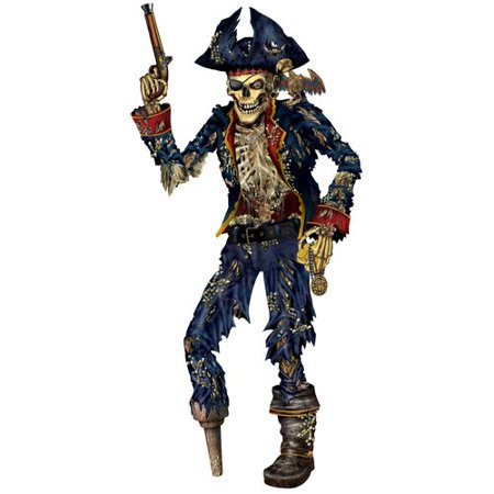 The Beistle Company Jointed Pirate Skeleton Wall D cor ()