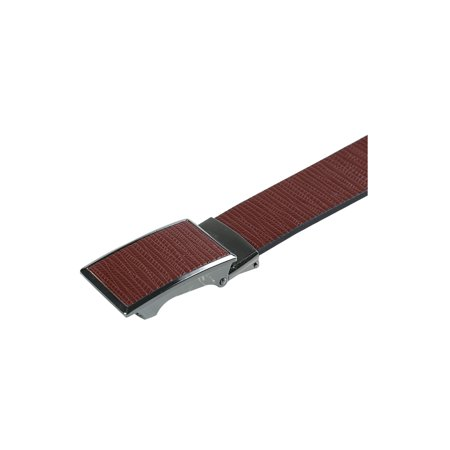 "Men No Ratchet Automatic Buckle Business Casual Belt Width 1 1/2"" Coffee 120CM - image 2 of 5"