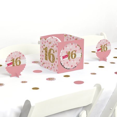 Sweet 16 - Birthday Party Centerpiece & Table Decoration Kit