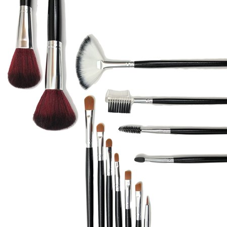 Full Face Eye Lip Brows 13 Piece Essential Cosmetics Makeup Gift Brush Set And Organizer Storage