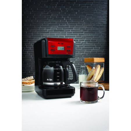 Mr. Coffee 12-Cup Programmable Coffee Maker, Red