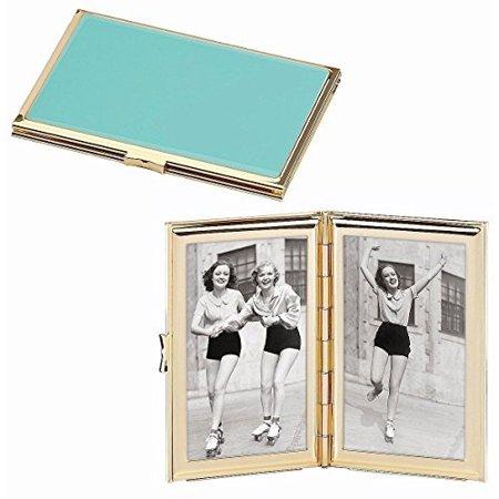 - Kate Spade New York Garden Drive Hinged Pocket Frame, Turquoise