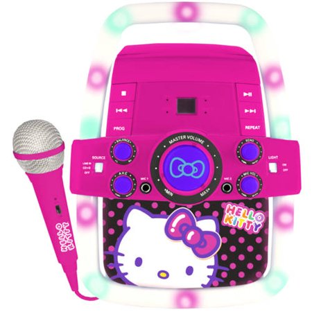 5208eaf0fb5 Sakar KO2-07009 Hello Kitty Flashing Lights Karaoke - Walmart.com