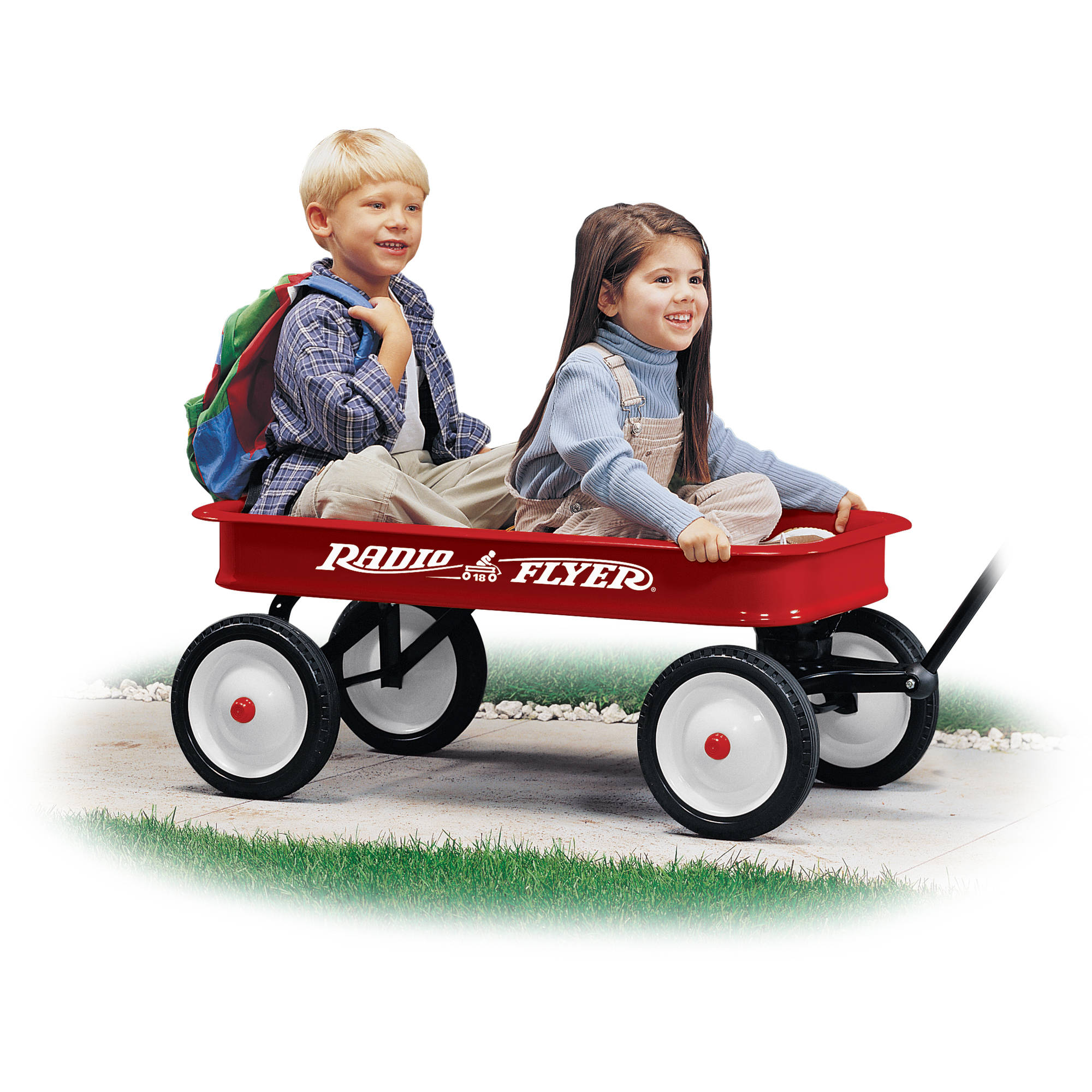 Radio Flyer Original Classic Red Wagon Steel Body Red Walmart Com Walmart Com
