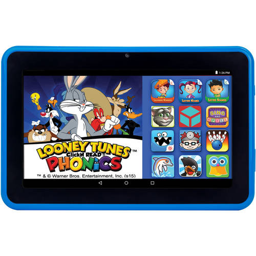 "HighQ Learning Tab 7"" Kids Tablet 16GB Intel Atom Processor Preloaded with Learning Apps & Games Blue"
