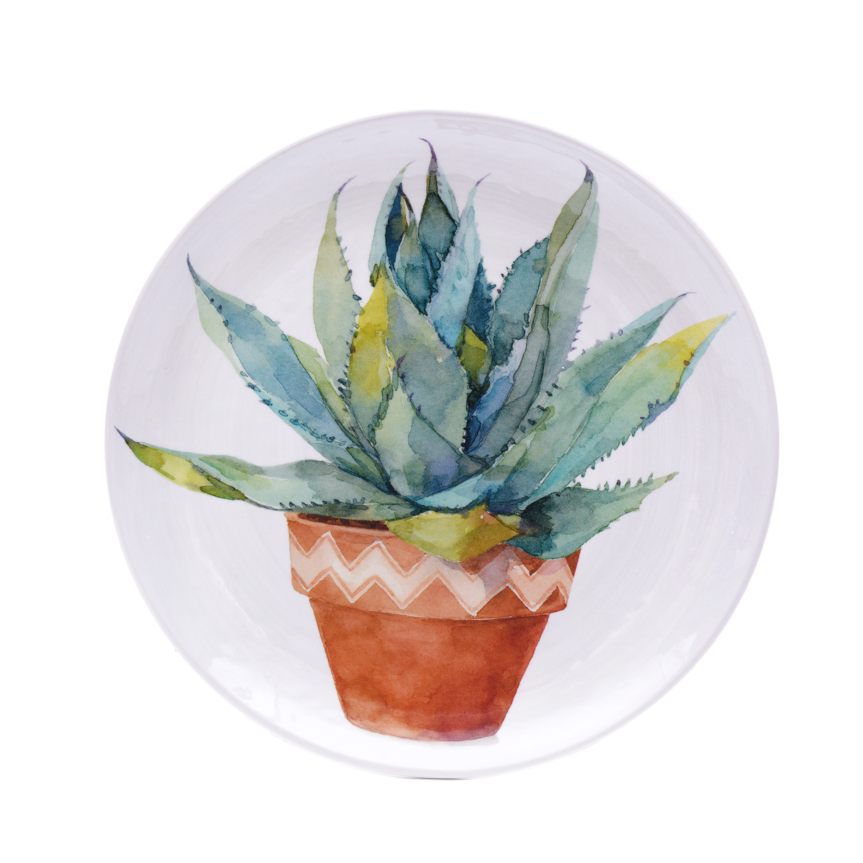 Better Homes & Gardens Succulents Melamine Salad Plate