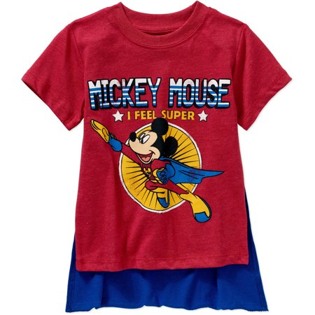 Disney Toddler Boy Short Sleeve Caped Tee](Toddler Batman Shirt With Cape)