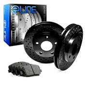 Front Black Edition Cross-Drilled Brake Rotors & Ceramic Brake Pads FBX.42005.02