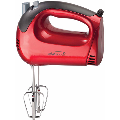 Brentwood 5-Speed Hand Mixer, Red
