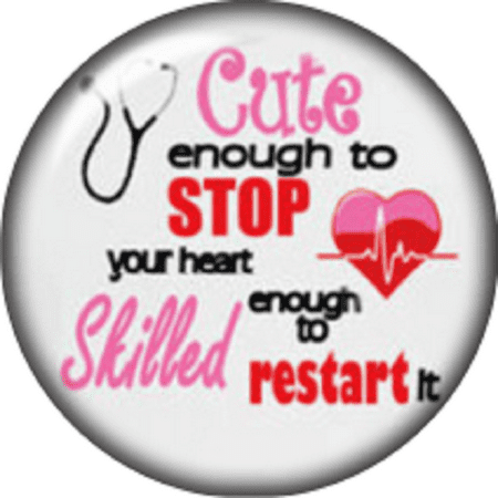 Cute Charms (Snap button Domed Nurse Cute enough charm  Jewelry)