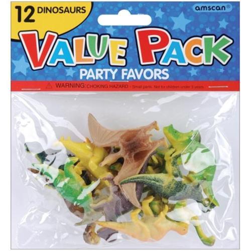 Amscan 390186 Party Favors 12/Pkg Dinosaurs