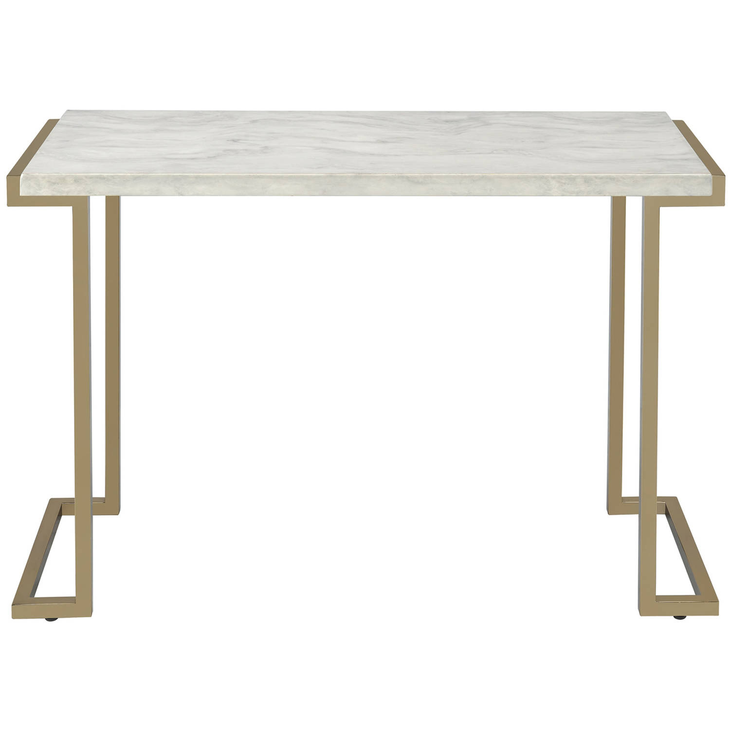 ACME Boice II Sofa Table, Faux Marble and Champagne by Acme Furniture