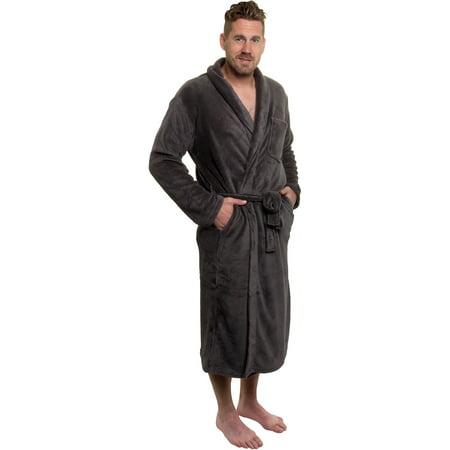 Ross Michaels New Mens Plush Shawl Collar Kimono Bathrobe Robe